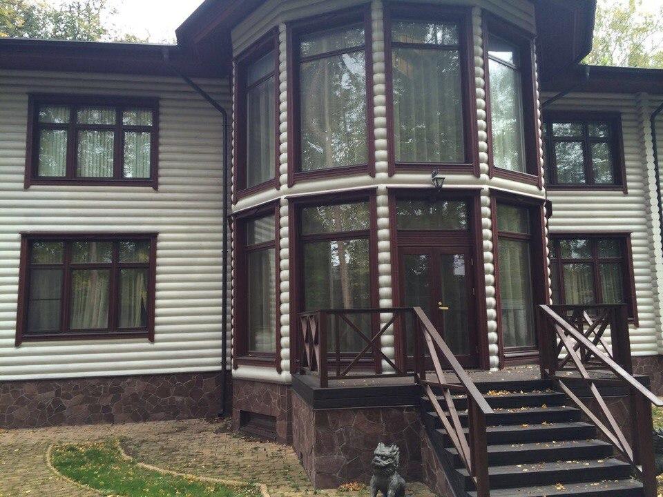 Покраска дома в деревне Голышкино, Клинского района