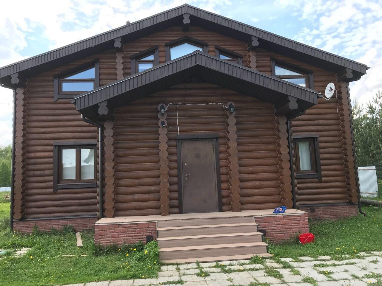 Покраска дома в деревне Астанино Егорьевского района