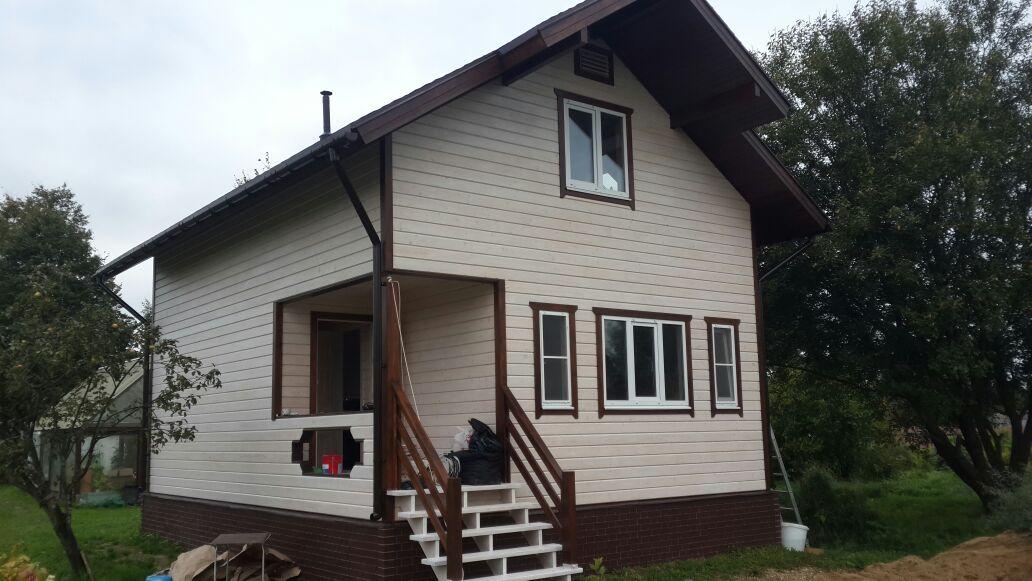 Покраска дома в деревне Башкино, Наро-Фоминского района