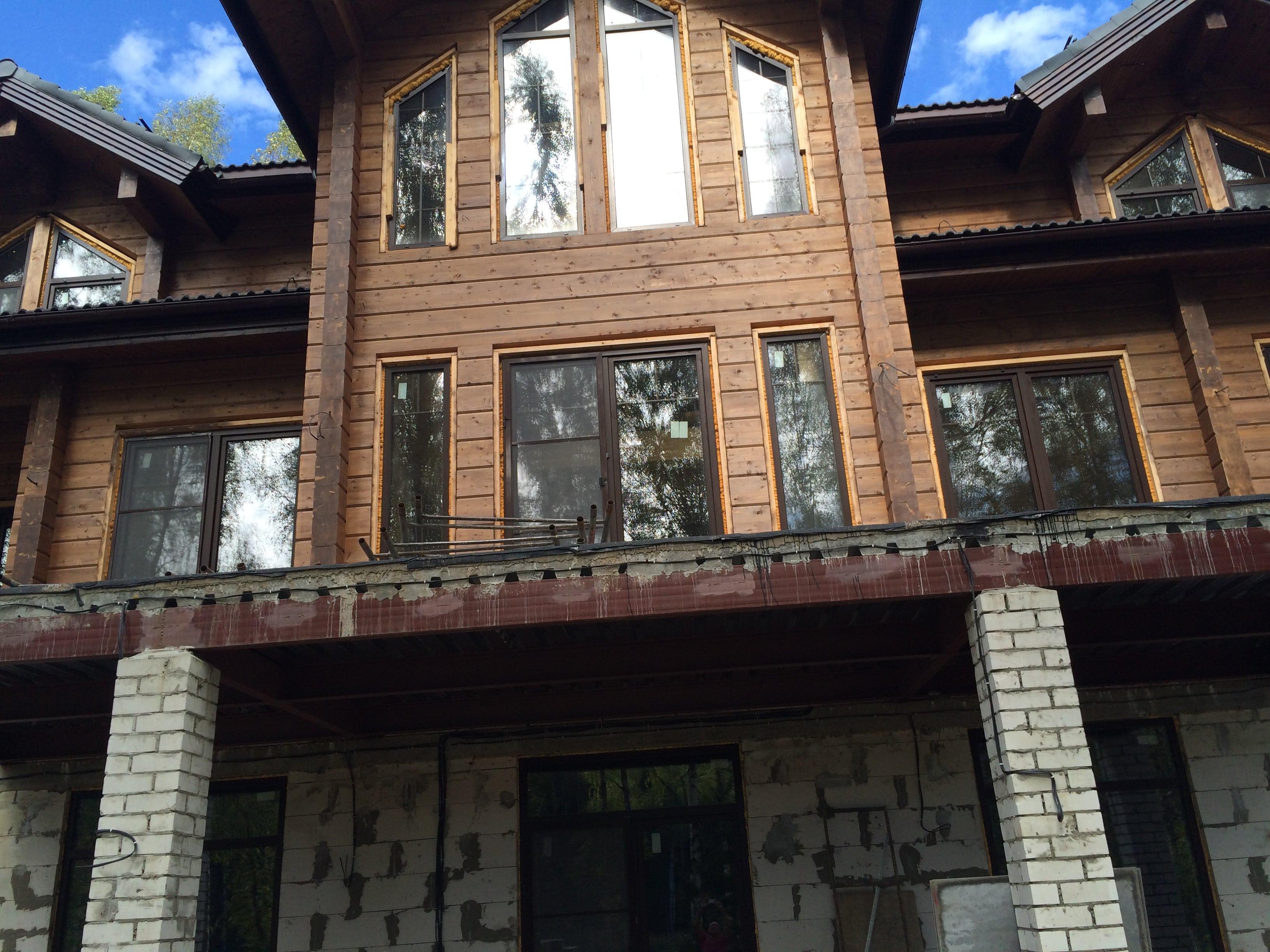 Покраска дома в деревне Шурово, Коломенского района