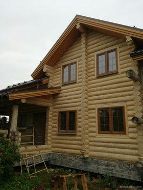 Шлифовка дома в деревне Топорково, Люберецкого района